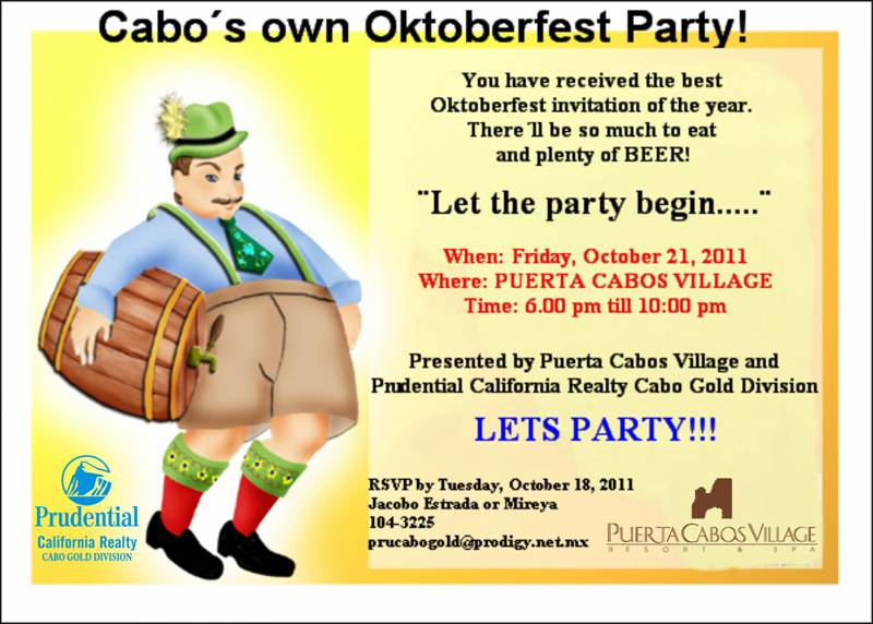 Oktoberfest Party, Puerta Cabos Village, Cabo San Lucas
