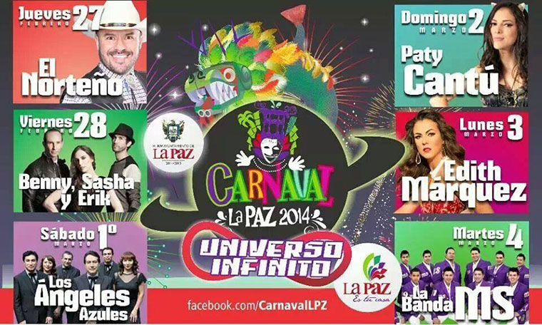 Carnaval La Paz, Baja California Sur - February 27 to March 04, 2014