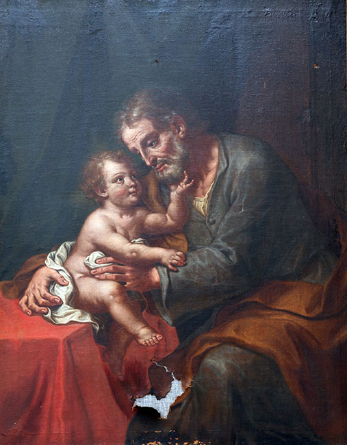 Saint Joseph with child Jesus. Photo: zatletic