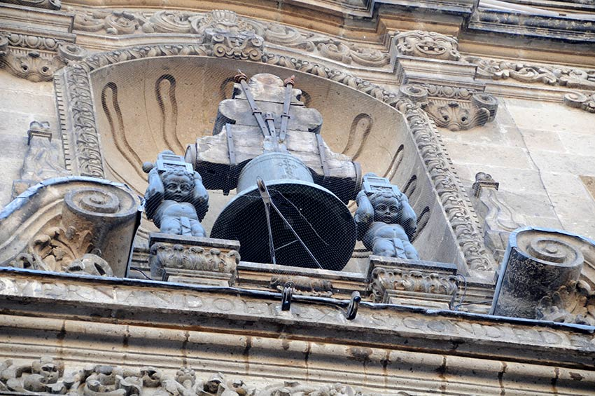 Closeup of the Bell on National Palace Building in Mexico City