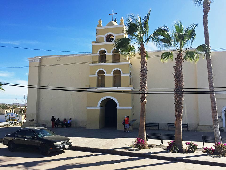 Iglesia Nuestra Señora del del Pilar de Todos Santos. Our Lady of Pilar Catholic Church in Todos Santos. Photo by Joseph A. Tyson April 2015.
