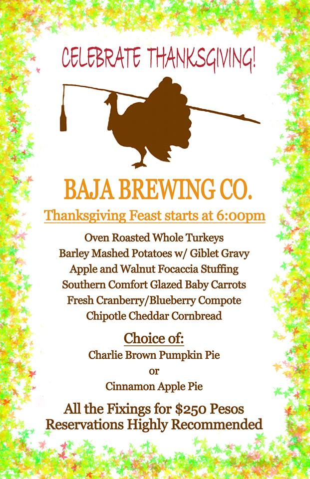 Baja Brewing Co. Thanksgiving Feast