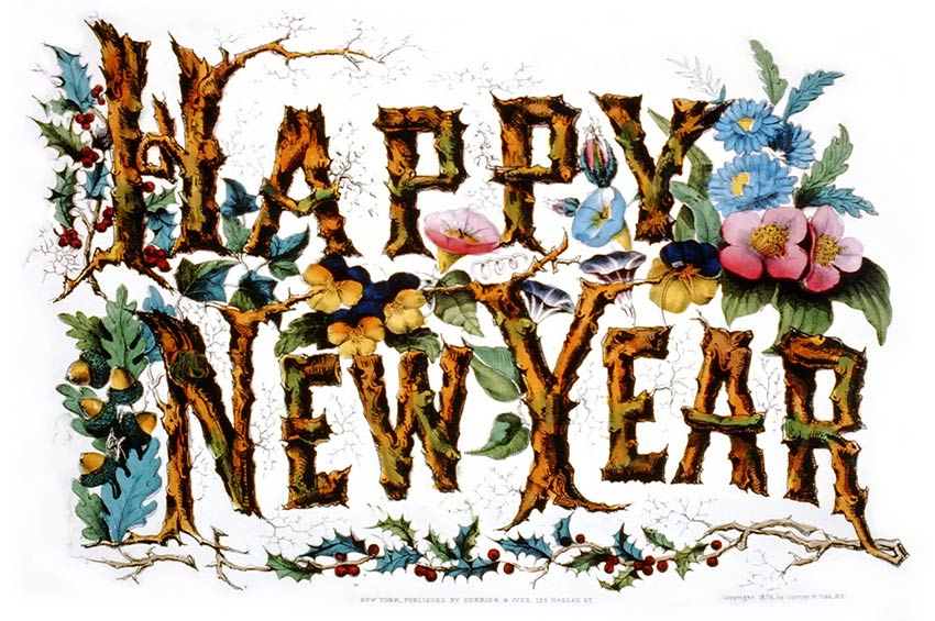 happy new year currier ives 2