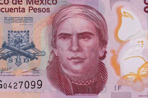 Jose Maria Morelos, 50 pesos Mexican banknote, 2012 Photo: Joseph A. Tyson