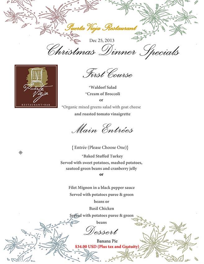 puerta-vieja-christmas-dinner-specials