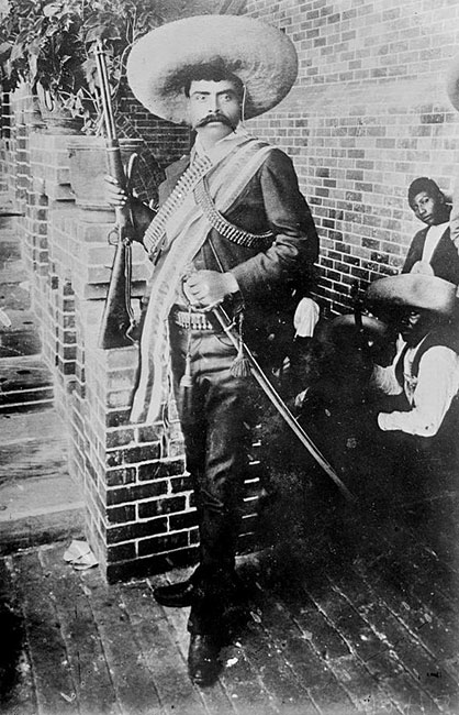 Description:  Emiliano Zapata Source http://memory.loc.gov/service/pnp/ggbain/14900/14906v.jpg Author Bain News Service, publisher