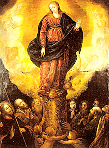Venida de la Virgen del Pilar | Date: 1655 | Author:Francisco Ximénez de la Maza