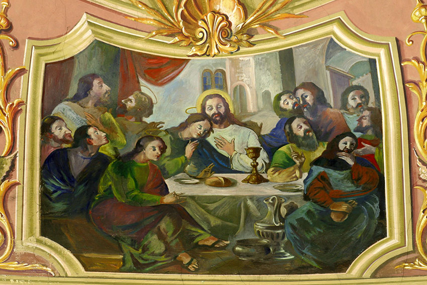 Photo of a painting of the Last Supper.  www.bigstockphoto.com | by zatletic