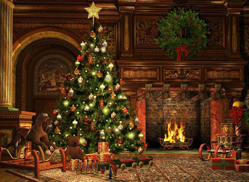 A Very Merry Christmas. Image of a living room on Christmas Eve. Photo: Atelier Sommerland | bigstockphoto.com/