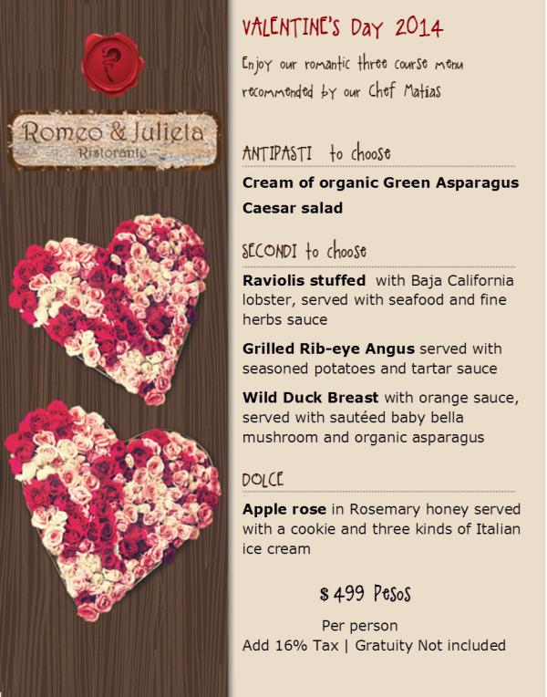 romeo y julieta valentine's day special - events los cabos, Ideas