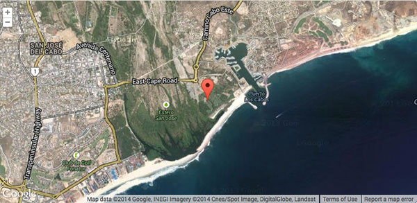Sabor a Cabo 2014 location map.