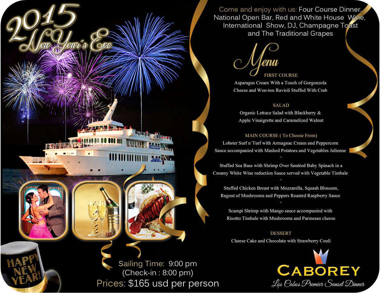 New Year S Eve 2015 Los Cabos Premier Sunset Dinner