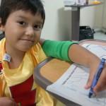 Fernando, héroe de corazón de 5 años de edad, un día después de su cirugía