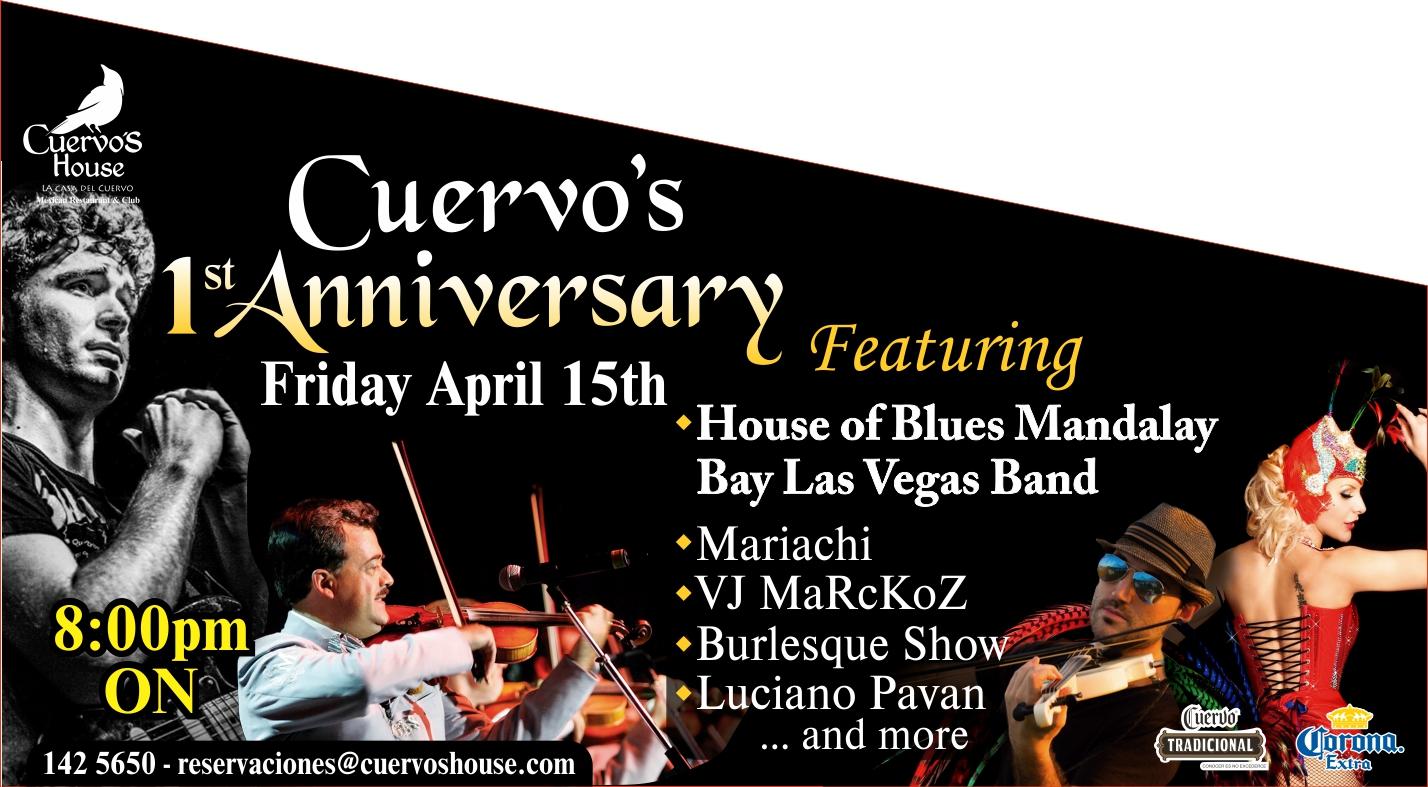 cuervos house aniversario - 11 abril