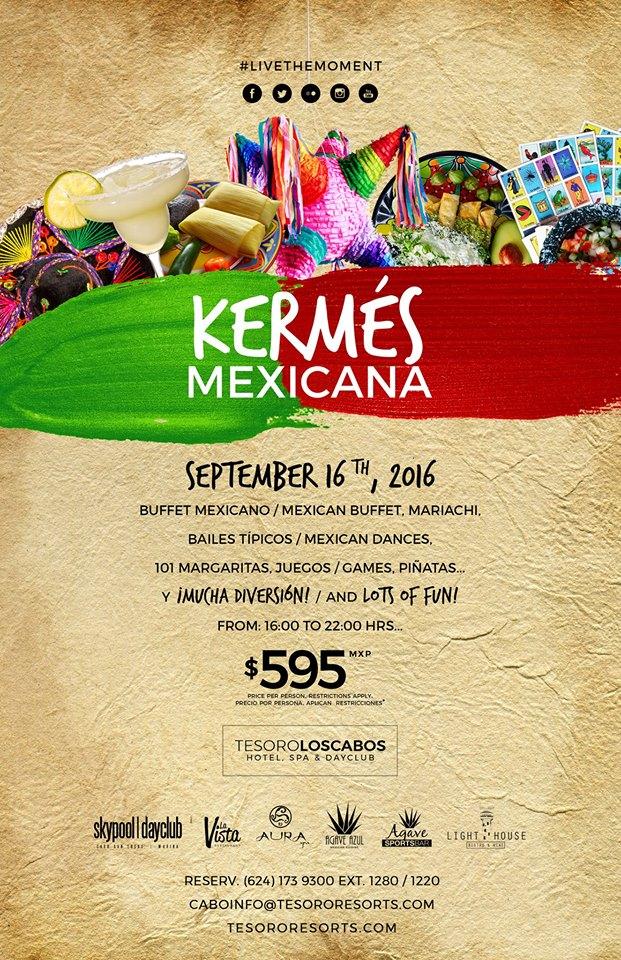 Mexican Kermes September 16th Tesoro Los Cabos