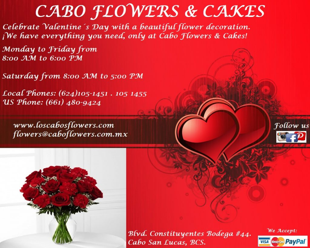 Valentine's Day at Cabo Flowers & Cakes
