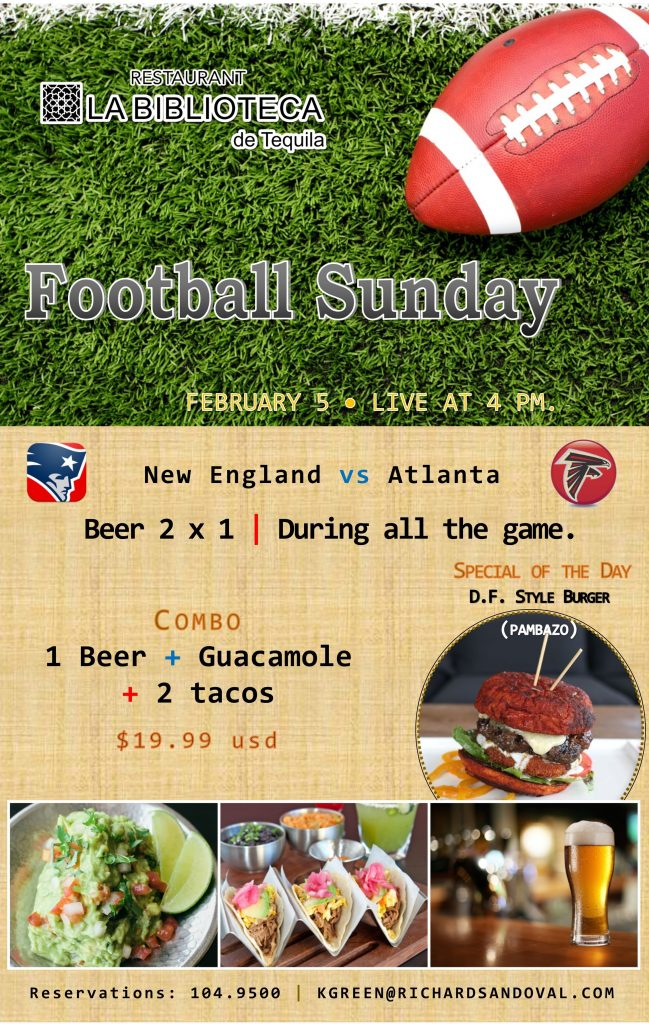 Super Bowl at La Biblioteca de Tequila
