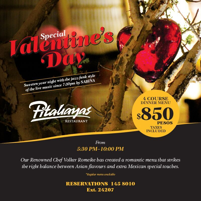 Special Valentines Day at Pitahayas Restaurant