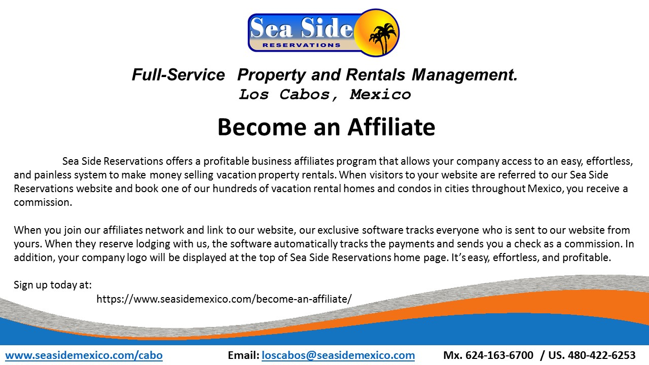 Become an Affiliate - Sea Side Reservations