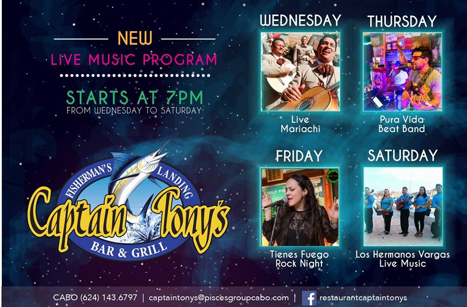 Captain Tony's - New Live Music Program