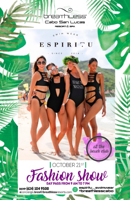 fashion show at breathless resort by espiritu swim wear